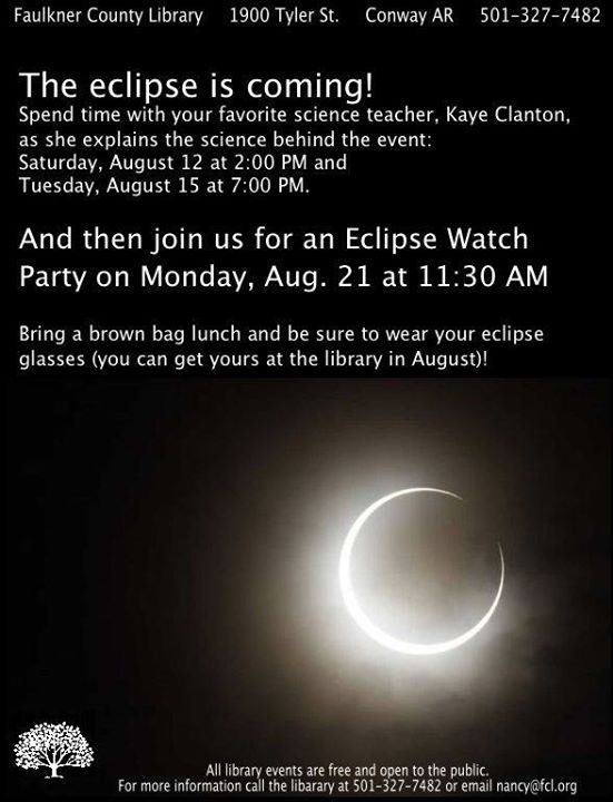 Solar Eclipse @ the Faulkner County Library
