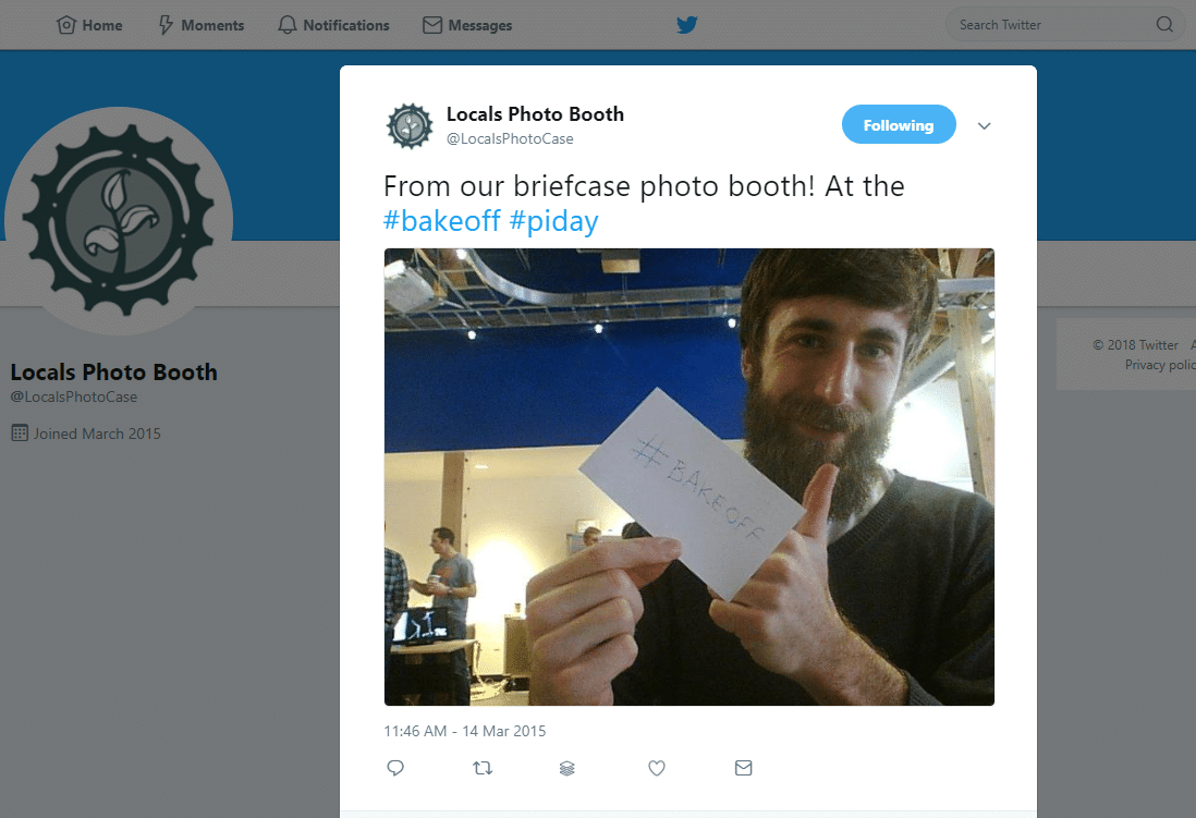 Locals Photo Booth on Twitter From our briefcase photo booth At the bakeoff piday
