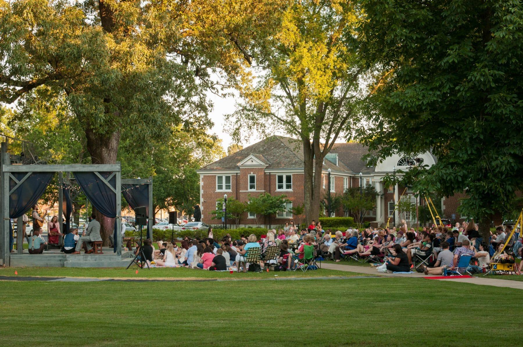 Arkansas Shakespeare's outdoor performance