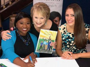 Author Jamille Rogers Thomas, Susan Blue and the book illustrator, Monica Garcia