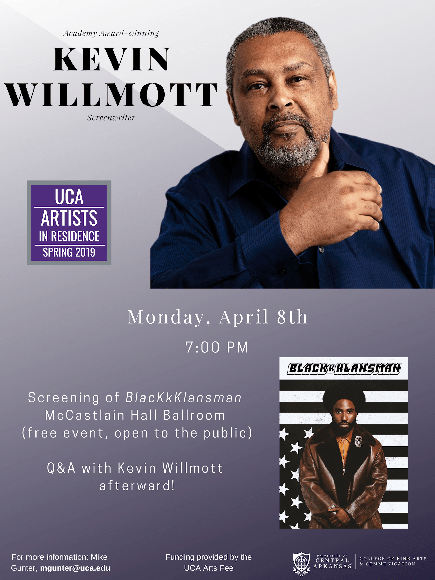 Kevin Willmott Poster without schedule